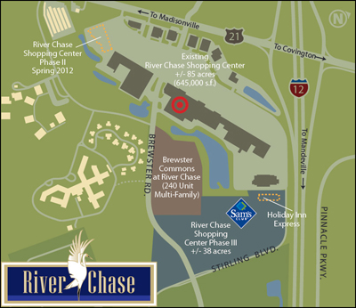 River Chase Sams Map